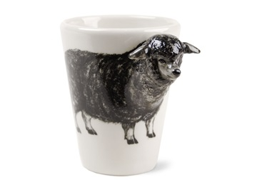 Picture of Sheep Handmade 8oz Coffee Mug Black