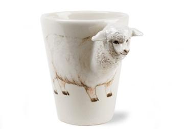 Picture of Sheep Handmade 8oz Coffee Mug White