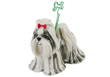 Picture of Shih Tzu Handmade Mini Picture Holder Black and White