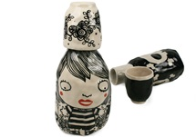 Picture of Shojo Handmade Ceramic 28oz Carafe Monochrome