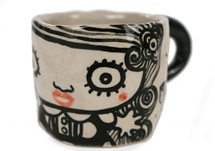 Picture of Shojo Handmade Ceramic 2oz Espresso Cup Monochrome