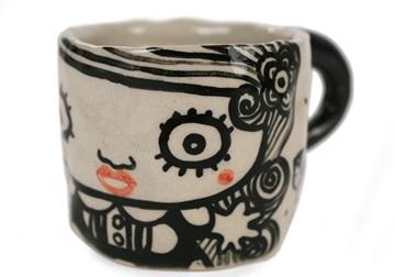 Picture of Shojo Handmade Ceramic 2oz Espresso Cup Monochrome