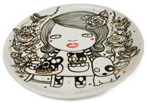 Picture of Shojo Handmade Ceramic Dinner Plate Monochrome
