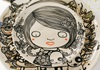 Picture of Shojo Handmade Ceramic Cereal Medium Bowl Monochrome