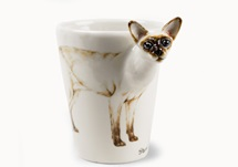 Picture of Siamese Cat 8oz Light Brown Handmade Coffee Mug