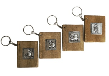 Picture of Siam Pico Handmade Keyring Tiny Stocking filler Nickel Natural
