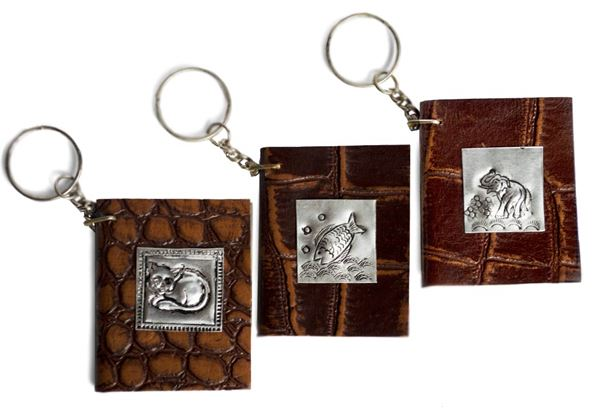 Picture of Siam Pico Tiny Tan Leather Handmade Keyring Journal