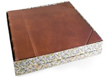 Picture of Sicilia Handmade Leather Bound Extra Large Photo Album Chestnut