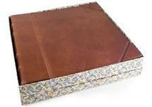 Picture of Sicilia Handmade Leather Bound Extra Large Photo Album Chestnut
