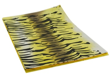 Picture of Silk Screen Tiger A4 Handmade Paper Yellow Stripes