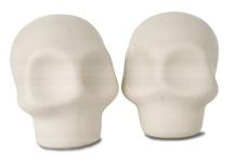 Picture of Skull Handmade Unpainted Ceramics Mini Unpainted Cruet Set Unglazed