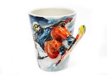 Picture of Snowboard Handmade 8oz Coffee Mug Blue