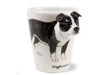 Picture of Staffordshire Bull Terrier Handmade 8oz Coffee Mug Black