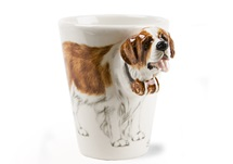 Picture of St Bernard Handmade 8oz Coffee Mug Brown and White