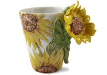 Picture of Sunflower Handmade 8oz Coffee Mug Yellow