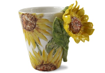 Picture of Sunflower Handmade 8oz Coffee Mug Yellow