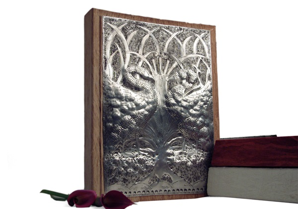 Picture of Swan Handmade 4 Hole A4 Ring Binder Nickel
