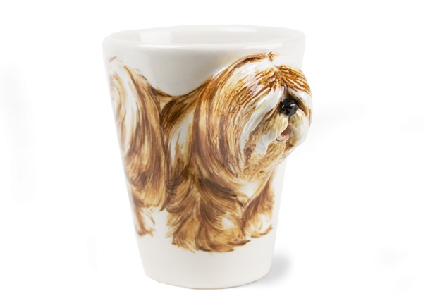 Picture of Tibetan Terrier Handmade 8oz Coffee Mug Golden