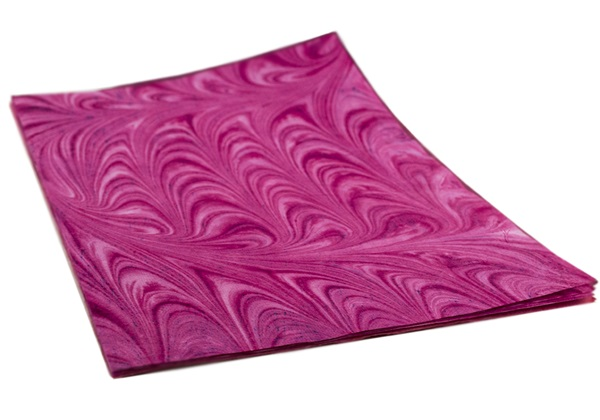 Picture of Tie dye Print A4 Handmade Paper Pink