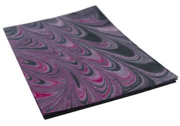 Picture of Tie dye Print A4 Handmade Paper Purple