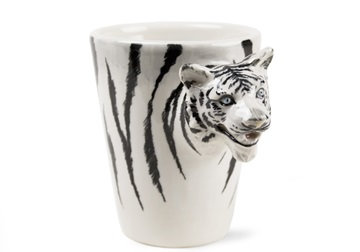 Picture of Tiger Handmade 8oz Coffee Mug White