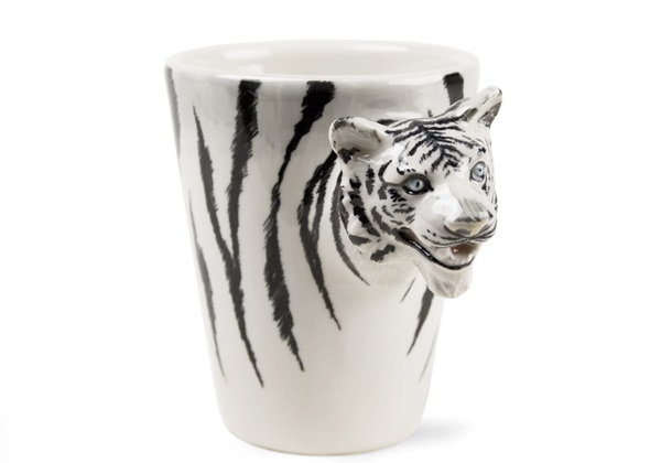 Picture of Tiger Handmade 8oz Coffee Mug White