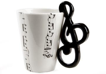 Picture of Treble Clef Handmade 8oz Coffee Mug Black
