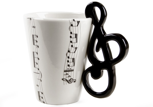 Picture of Treble Clef Handmade 8oz Coffee Mug Black