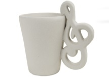 Picture of Treble Clef Handmade Ceramic 8oz Coffee Mug Unpainted