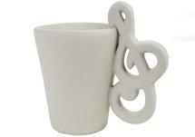 Picture of Treble Clef Handmade Ceramic 8oz Coffee Mug Unpainted