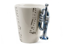 Picture of Trumpet Handmade 8oz Coffee Mug Blue