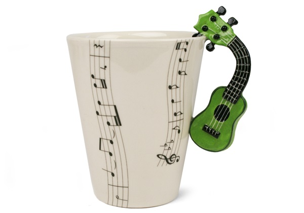 Picture of Ukulele Handmade 8oz Coffee Mug Green