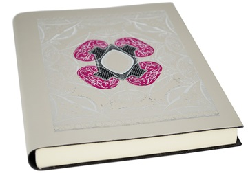 Picture of Venezia Handmade Recycled Leather Bound A5 Journal Rococo Silver Plain