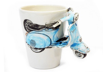 Picture of Vespa Handmade 8oz Coffee Mug Blue
