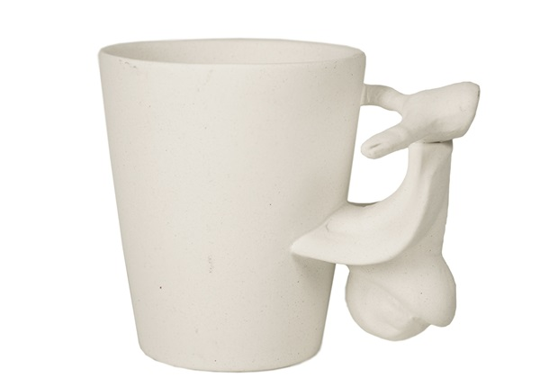 Picture of Vespa Handmade Ceramic 8oz Coffee Mug Unpainted