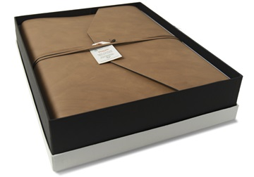 Picture of Viaggio Handmade Recycled Leather Wrap Large Photo Album Tan