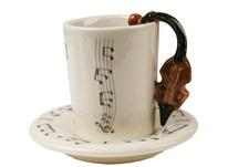 Picture of Violin Handmade Ceramic 2oz Espresso Cup Brown