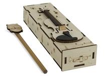 Picture of Violin Handmade Regular Wooden Pencil Box Beige