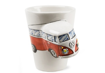 Picture of Camper Van Handmade 8oz Coffee Mug Red 1