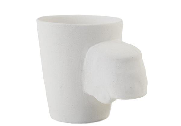 Picture of Camper Van Handmade Ceramic 8oz Coffee Mug Unpainted