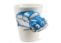 Picture of Beetle Handmade 8oz Coffee Mug Blue