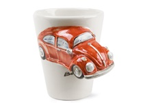 Picture of Beetle Handmade 8oz Coffee Mug Red
