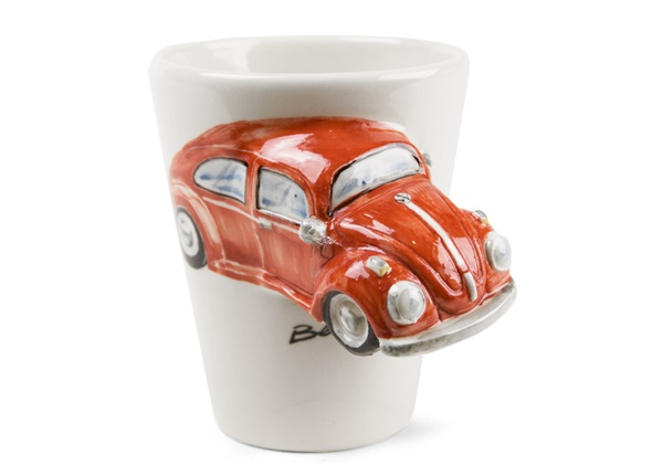 Picture of Beetle Handmade 8oz Coffee Mug Red