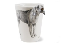 Picture of Weimaraner Handmade 8oz Coffee Mug Silver