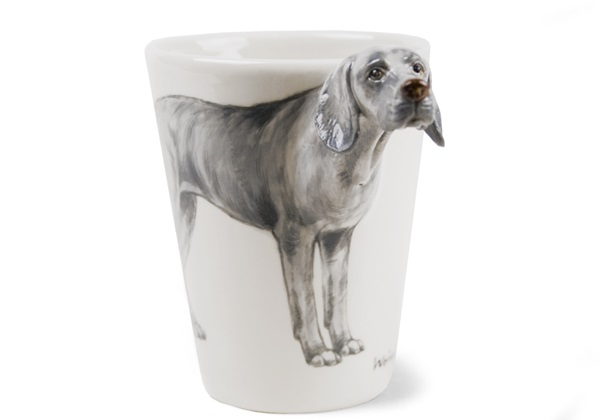 Picture of Weimaraner Handmade 8oz Coffee Mug Silver