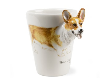 Picture of Welsh Corgi Handmade 8oz Coffee Mug Fawn