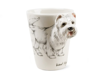 Picture of West Highland Terrier Handmade 8oz Coffee Mug White