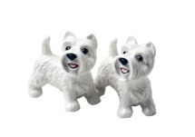 Picture of West Highland Terrier Handmade Mini Cruet Set White