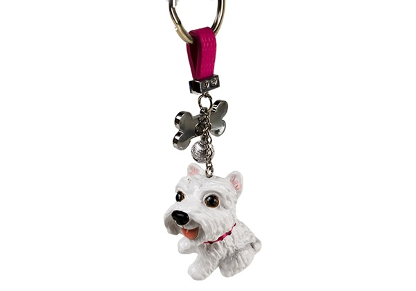 Picture of West Highland Terrier Handmade Mini Key Ring White