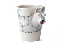 Picture of Wheaten Scottish Terrier Handmade 8oz Coffee Mug White